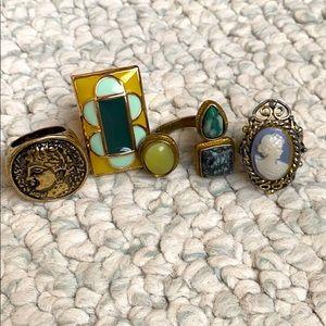 Vintage rings - Set of 4
